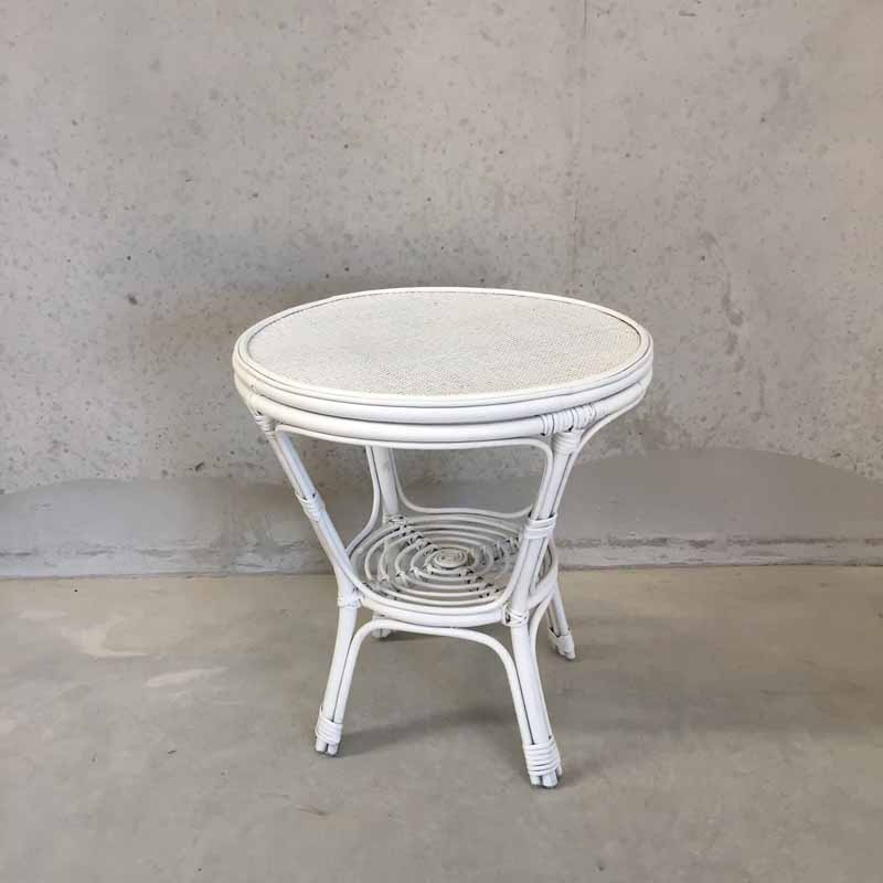 White Rattan Table